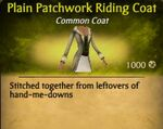 F Patchwork Riding Coat variations