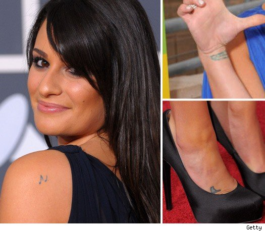 lea michele tattoos pictures. lea michele spring awakening