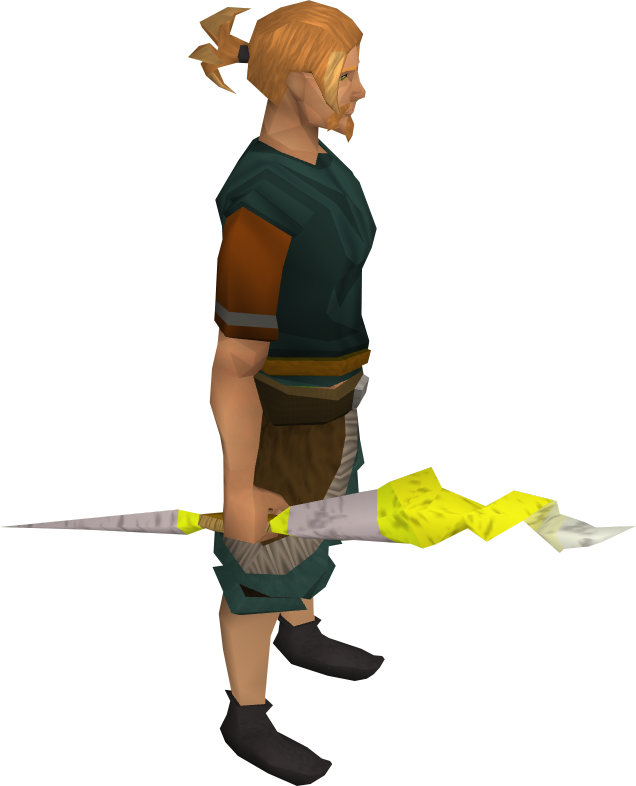 Guthix staff equipped