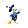 Donald Sticker (Aqua)