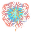 Fireworks Sticker (Aqua)2