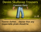 Denim Skullsnap Trousers