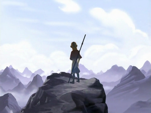 Aang in the opening