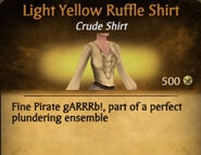 Light Yellow Ruffle Shirt