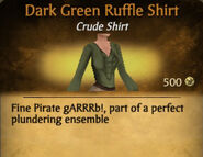 Dark Green Ruffle Shirt