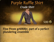 Purple Ruffle Shirt