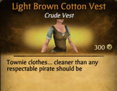 Light Brown Cotton Vest