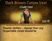 Dark Brown Cotton Vest