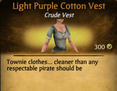 Light Purple Cotton Vest