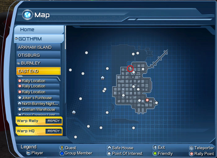 Map Of Dc Universe