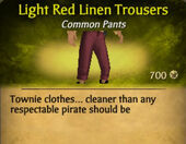 Light Red Linen Trousers