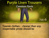 Purple Linen Trousers