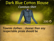 Dark Blue Cotton Blouse