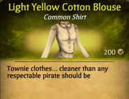 Light Yellow Cotton Blouse