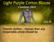 Light Purple Darker Cotton Blouse