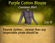 Purple Cotton Blouse