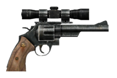 .44 magnum revolver with scope