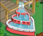 A 3 heart fountain