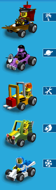 LEGO Racers Mobile cars 2