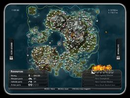 Just Cause 2 PDA map