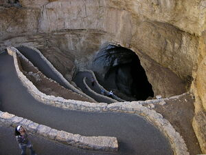 Switchbacks in Carlsbad Cavern