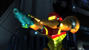 Samus aiming Sector Zero HD