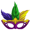Mardi Gras Mask I-icon