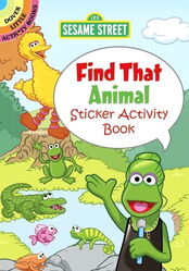 Dover find that animal sticker activity book