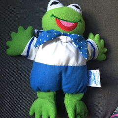 Eden baby kermit plush rattle
