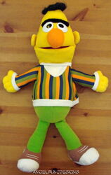 Playskool 1986 bert full body hand puppet