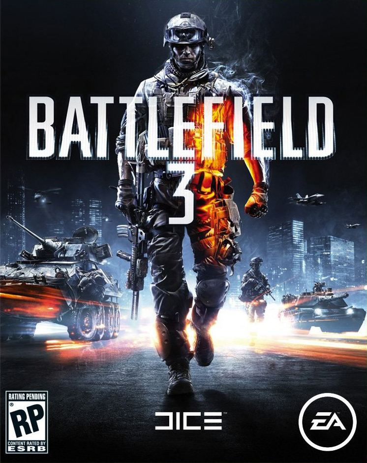 The box art for Battlefield 3.