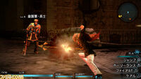 Nine attacking Final Fantasy Type 0