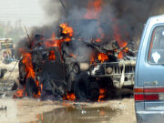 US Army Humvee attacked