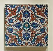 Tile panel flowers Louvre OA3919-2-297