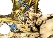 Saving Natsu from Rocks