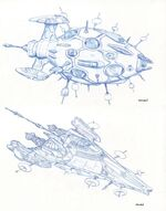 Hierarchy Assault Class design sketches by Rick Sternbach