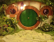 Bilbo's hobbit hole - front door