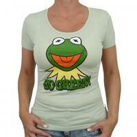 Logoshirt-Kermit-GoGreen-Girlie-Shirt-lightgreen