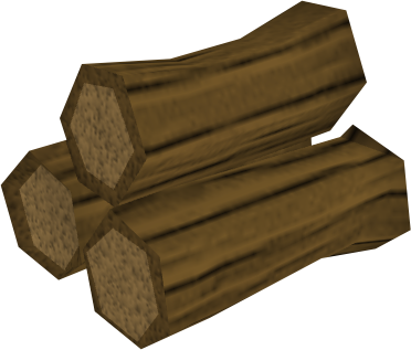 Oak pyre logs detail