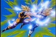 Goku's fight with Vegeta