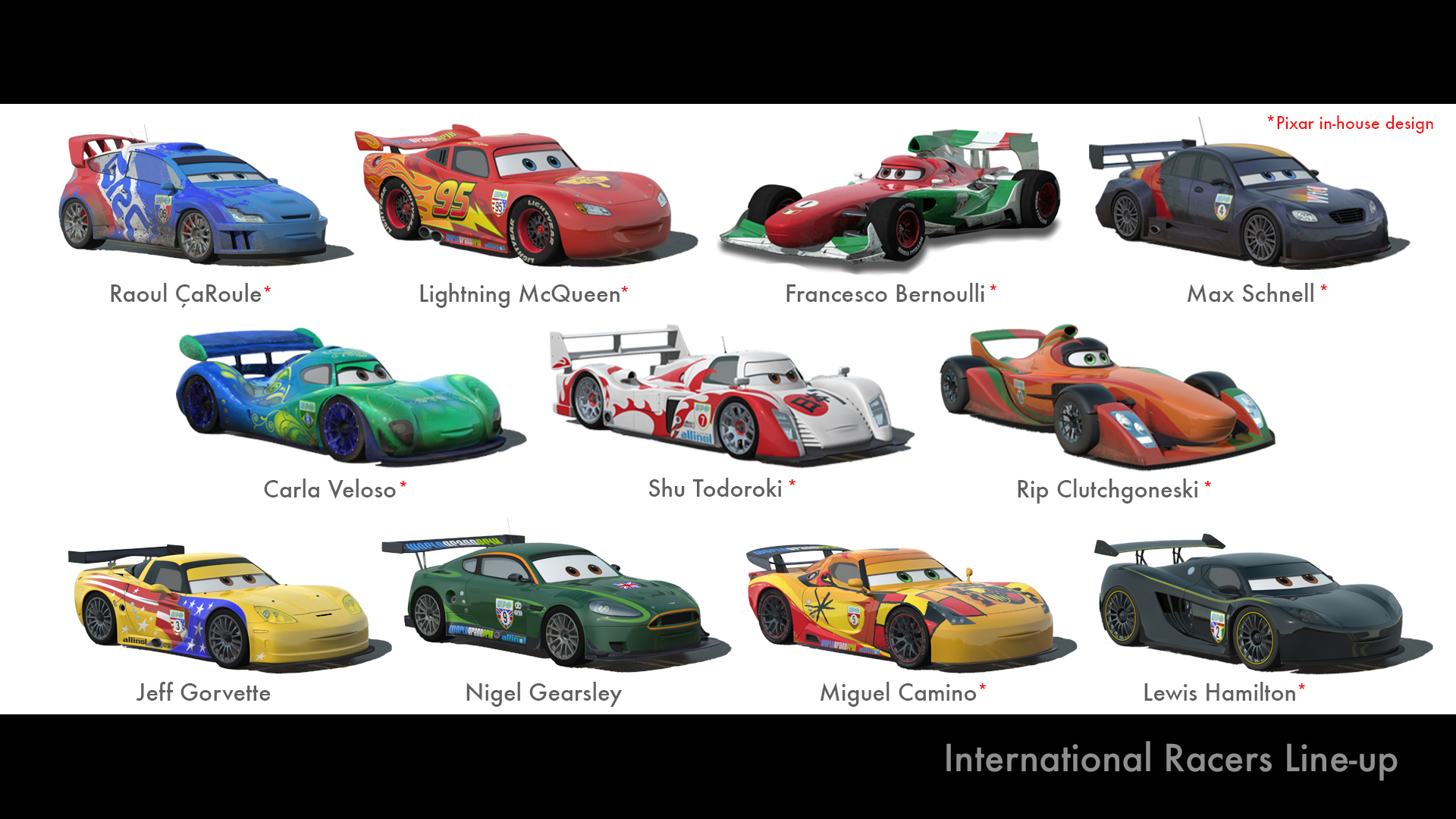 Disney cars 2 and real 1 1 car counterparts