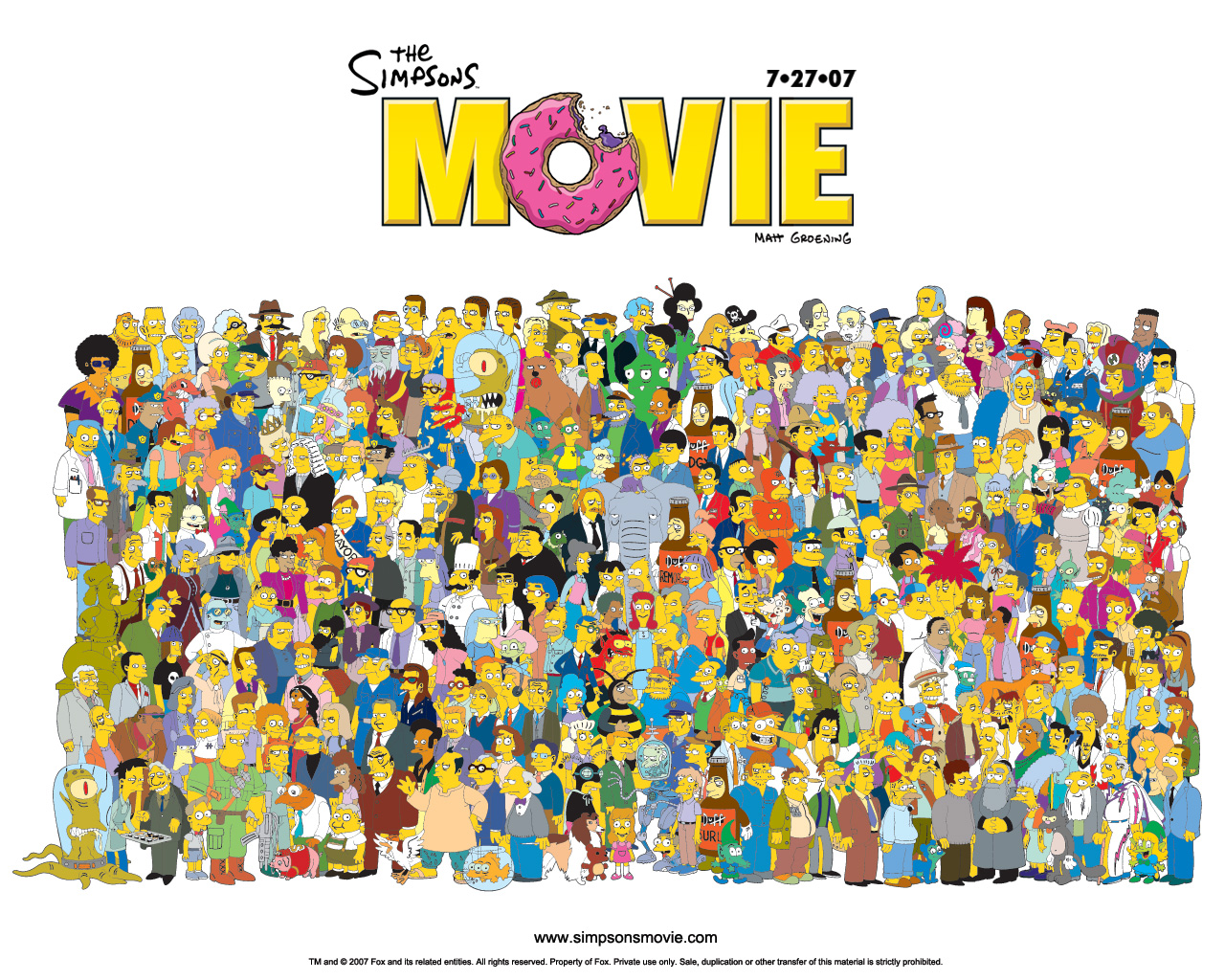 Simpson Movie Characters