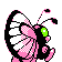 Butterfree GenII Shiny Back
