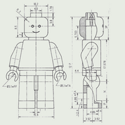 Technical drawing minifigure
