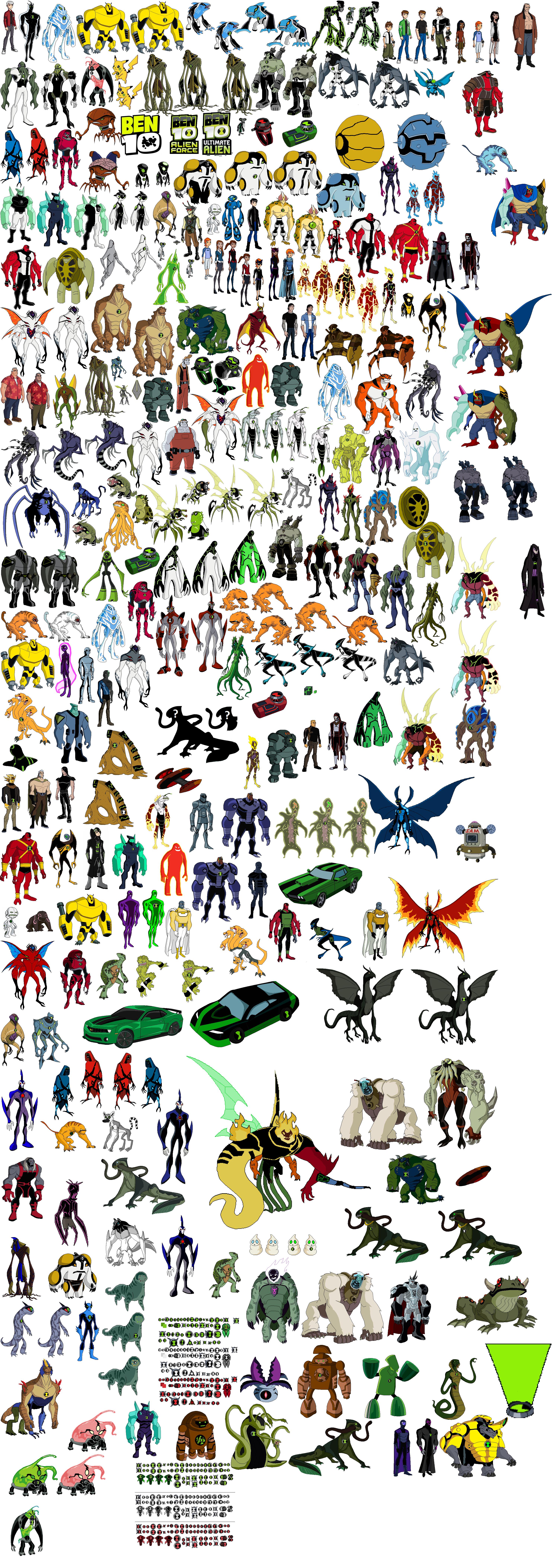 Todos Los Alienigenas De Ben 10 Imagui
