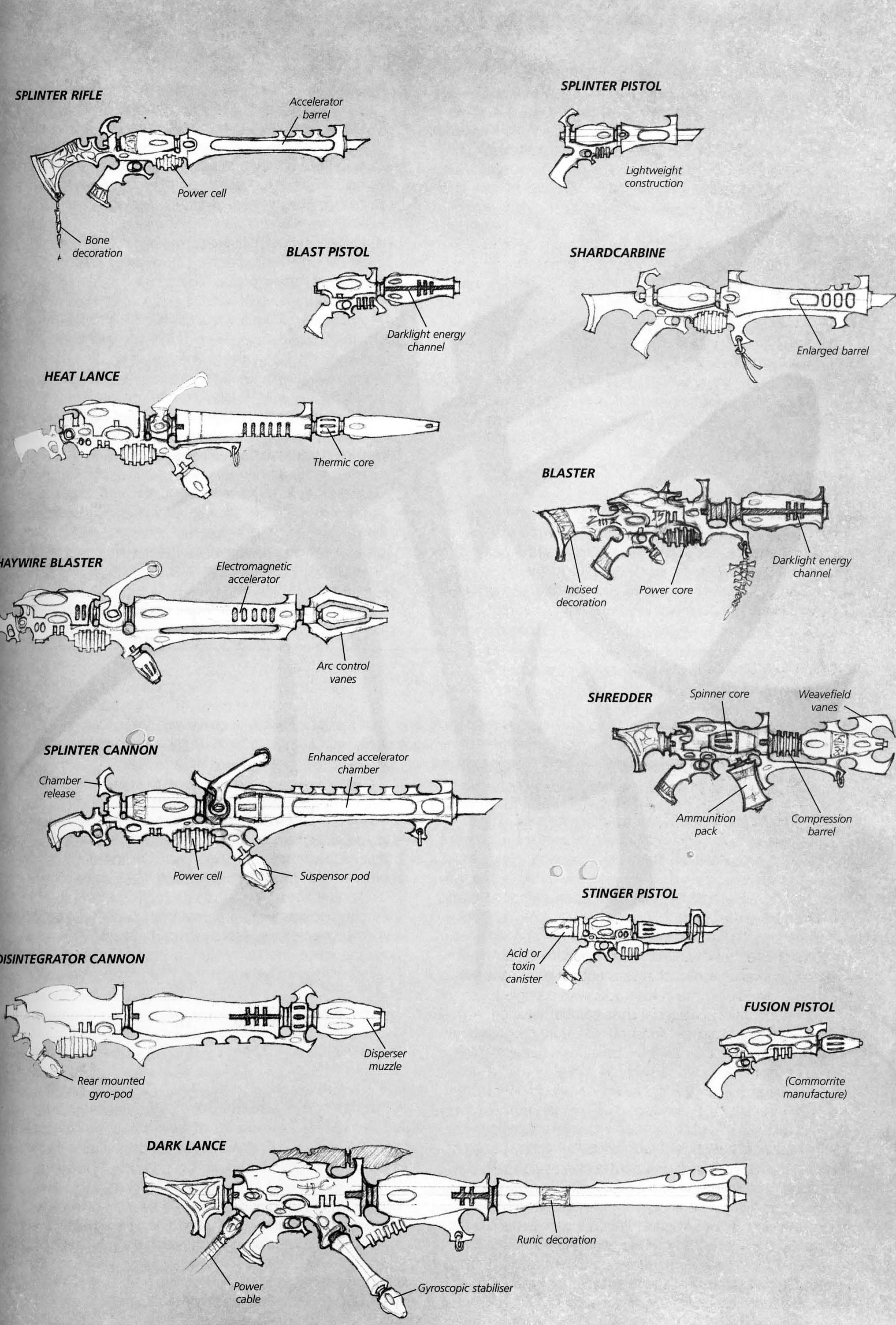 File:Dark Eldar Ranged Weaponry.jpg - Warhammer 40K Wiki - Space ...