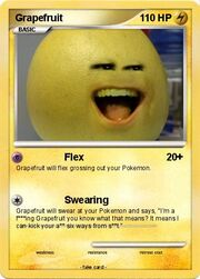 Grapefruit Pokemon Card