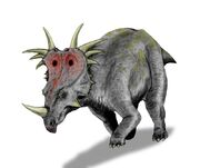Styracosaurus BW