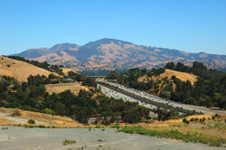 View of Mount Diablo and CA highway 24 from Lafayette Hights