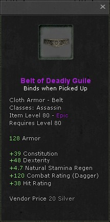 Belt of deadly guile